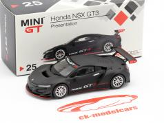 Honda NSX GT3 Presentation Car zwart 1:64 TrueScale