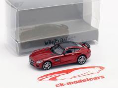 Mercedes-Benz AMG GTS ano de construção 2015 vermelho metálico 1:87 Minichamps