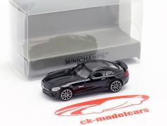 Mercedes-Benz AMG GTS year 2015 black 1:87 Minichamps
