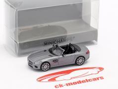 Mercedes-Benz AMG GTS Roadster año de construcción 2015 estera gris 1:87 Minichamps