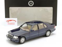 Mercedes-Benz S500 (W140) jaar 1994-98 azurite blauw 1:18 Norev