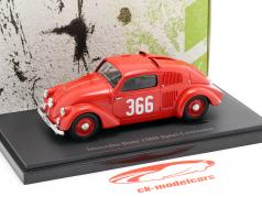 Mercedes-Benz 150H #366 Sport Sedan Opførselsår 1934 rød 1:43 AutoCult