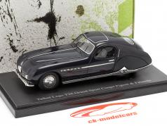 Talbot Lago T26 Grand Sport Coupe year 1949 dark blue 1:43 AutoCult