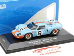 Ford GT40 Gulf #9 Vinder 24h LeMans 1968 Rodriguez, Bianchi 1:43 Ixo