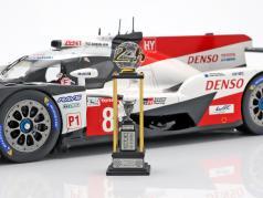 Toyota TS050 Hybrid #8 gagnant 24h LeMans 2018 Buemi, Nakajima, Alonso 1:18 Spark