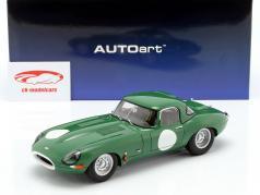 Jaguar Lightweight E-Type con desmontable superior verde oscuro 1:18 AUTOart