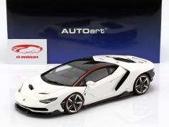 Lamborghini Centenario LP770-4 année de construction 2017 solid blanc 1:18 AUTOart
