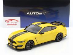 Ford Mustang Shelby GT350R Baujahr 2017 gelb / schwarz 1:18 AUTOart