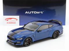 Ford Mustang Shelby GT350R ano de construção 2017 azul / preto 1:18 AUTOart