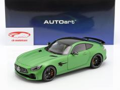 Mercedes-Benz AMG GT R año de construcción 2017 estera verde metálico 1:18 AUTOart