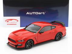 Ford Mustang Shelby GT350R 築 2017 レース 赤 1:18 AUTOart