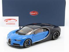Bugatti Chiron Bouwjaar 2017 french racing blauw / atlantic blauw 1:18 AUTOart