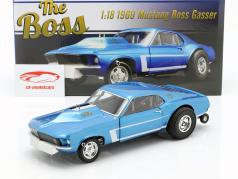Ford Mustang Gasser The Boss año de construcción 1969 azul metálico 1:18 GMP