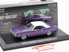 Dodge Challenger R/T ano de construção 1970 programa de TV Graveyard Carz (desde 2012) violeta / branco 1:43 Greenlight