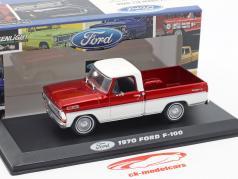 Ford F-100 Pick-Up Truck Baujahr 1970 rot / weiß 1:43 Greenlight