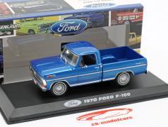 Ford F-100 Pick-Up caminhão ano de construção 1970 azul metálico 1:43 Greenlight