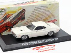 Dodge Challenger R/T Bouwjaar 1970 film Vanishing Point (1971) wit 1:43 Greenlight