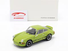 Porsche 911 Carrera RS ano de construção 1973 verde limão / preto 1:24 Welly