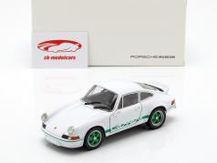 Porsche 911 Carrera RS Bouwjaar 1973 wit / groen 1:24 Welly