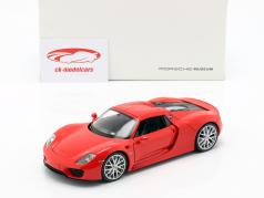 Porsche 918 Spyder year 2013-2015 guards red 1:24 Welly