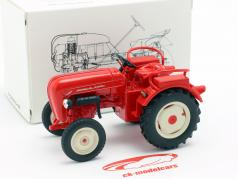 Porsche Junior traktor rød 1:24 Welly