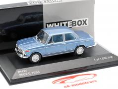 BMW 2002 ti année de construction 1968 bleu clair métallique 1:43 WhiteBox