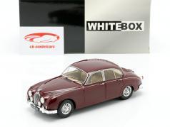 Jaguar MK II Opførselsår 1960 mørk rød 1:24 WhiteBox