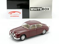 Jaguar MK II year 1960 dark red 1:24 WhiteBox