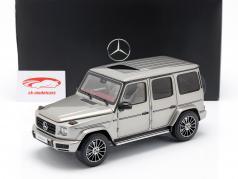 Mercedes-Benz G-Klasse W463 40 jaar 2019 mojave zilver metalen 1:18 Minichamps