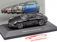 Porsche 911 (991) 50e verjaardag 2013 zwart 1:43 Atlas
