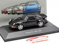 Porsche 911 (964) Turbo année de construction 1990 noir 1:43 Atlas