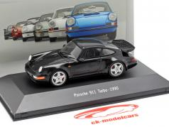 Porsche 911 (964) Turbo Opførselsår 1990 sort 1:43 Atlas