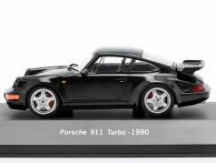 Porsche 911 (964) Turbo Bouwjaar 1990 zwart 1:43 Atlas