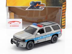 Chevy Tahoe J.T. Police année de construction 2010 gris argenté / bleu 1:24 Jada Toys