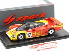 Porsche 962C #17 2º 24h LeMans 1988 Stuck, Ludwig, Bell 1:43 Spark