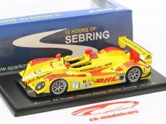Porsche RS Spyder #7 winnaar 12h Sebring 2008 Bernhard, Dumas, Collard 1:43 Spark