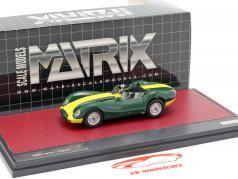 Jaguar Lister Bouwjaar 1958 groen / geel 1:43 Matrix