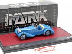 Bugatti Type 57 S Corsica Roadster Malcolm Campbell año de construcción 1937 azul 1:43 Matrix