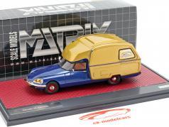 Citroen ID Camper Bouwjaar 1973 blauw metalen / goud 1:43 Matrix