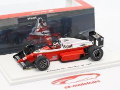 Aguri Suzuki Zakspeed 891 #35 japonés GP fórmula 1 1989 1:43 Spark