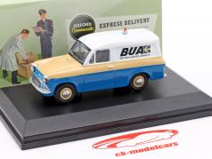Ford Anglia Van British United Airways blå / creme gul / hvid 1:43 Oxford