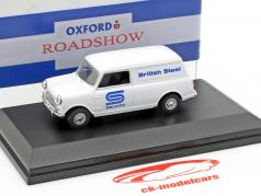 Austin Minivan British Steel Security bianco / blu 1:43 Oxford