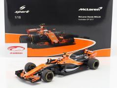 Stoffel Vandoorne McLaren MCL32 #2 Australia GP fórmula 1 2017 1:18 Spark 2. elección
