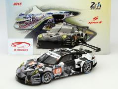 Porsche 911 RSR #88 24h LeMans 2015 Ried, Bachler, Al Qubaisi 1:18 Spark 2. verkiezing