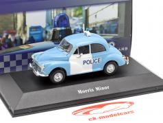 Morris Minor police United Kingdom year 1957 light blue / White 1:43 Atlas