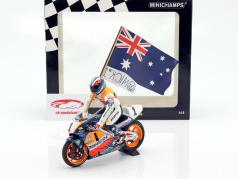 Mick Doohan Honda NSR 500 #1 campeão do mundo MotoGP 1995 com figura 1:12 Minichamps