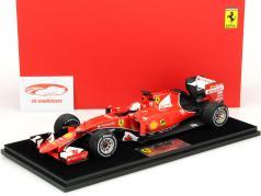 S. Vettel Ferrari SF15-T #5 Winner Malaysia GP F1 2015 with showcase 1:18 LookSmart 2nd choice