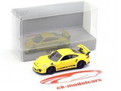 Porsche 911 (991) GT3 RS Bouwjaar 2013 racing geel / zwart 1:87 Minichamps