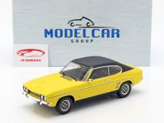 Ford Capri MK I Bouwjaar 1973 geel / zwart 1:18 Model Car Group