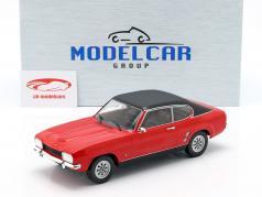 Ford Capri MK I Bouwjaar 1973 rood / zwart 1:18 Model Car Group